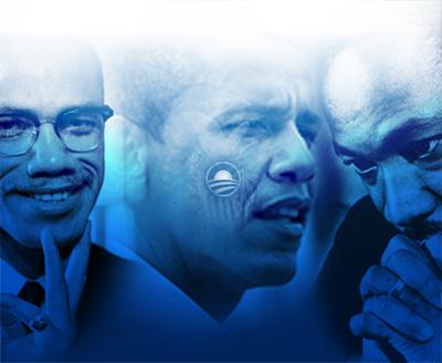 Irmão Malcolm (X), Obama e Dr. King - nós o saudamos!