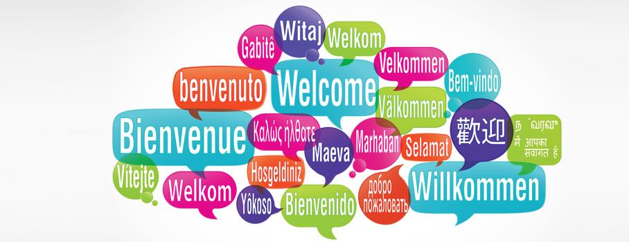 Resultado de imagem para welcome em diferentes linguas